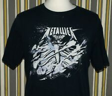Metallica Fan Club Concert Tour Graphic T-shirt Size L Hard to Find Heavy Metal