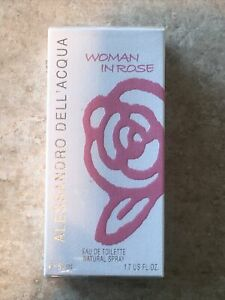 ALESSANDRO DELL' ACQUA WOMAN IN ROSE EDT 50ML PERFUME FRAGRANCE DISCONTINUED