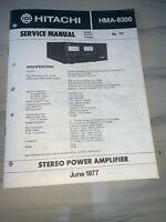 Hitachi HMA-8300 Stereo power amplifier Service manual #2