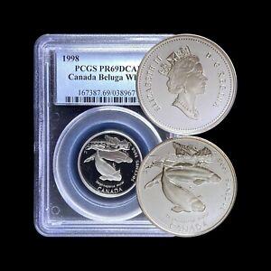 1998 Canada 50 Cent (Silver) - PCGS PR69 DCAM - Beluga Whale