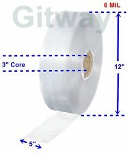 5 X 725 Clear Poly Tubing Tube Plastic Bag Polybags Custom Bags On A Roll 6ml
