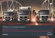Prospekt MAN TG Verteilerverkehr 8 14 2014 LKWs Truck Broschüre Nutzfahrzeuge