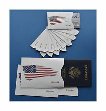 High Quality RFID Blocking Creditcard Passport Sleeves American USA Flag