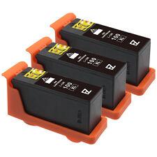 3 Pack 100XL 100 XL Black Ink Cartridges for Lexmark 14N1068 Printer
