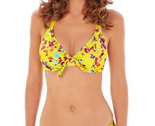 Lepel Sunset Bikini Top 1575610 Underwired Non Padded Halterneck Swimwear 32 C Yellow