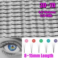 larga Eye Lash Extension Premade volumen fans Pelo sintético Pestañas postizas