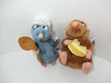 Walt Disney Store plush Ratatouille Remy chef hat spoon Emile cheese rat w/ tags