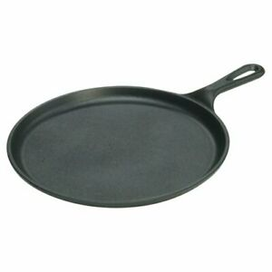 Lodge Pre-Seasoned 10.5 Inch Cast Iron Griddle with Easy-Grip Handle