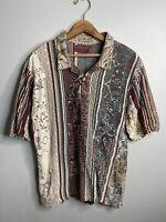 Coogi Australia Nouveau Collection Shirt Mens Size Large Polo Multi Color Cotton