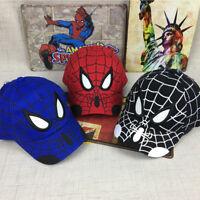 Baby Boys Kids Toddler Baseball Caps Snapback Spider-Man Hip Hop Summer Sun Hats