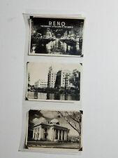 "Set of 3 miniature photos (4.25"" x 3.25"") of 1940's Reno, NV Court House etc"