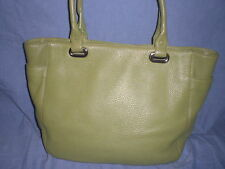 Levenger large  pebbled leather business handbag and tote purse