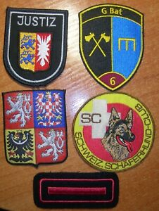 Swiss, Austrian and unknown patches lot