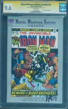 Iron Man 55 CGC 2XSS 9.6 Stan Lee Starlin 1st Thanos Milestone Ed 1992 Avengers