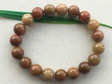 jade Jadeite elastic bracelet 401 10mm Certified Brownish yellow natural A-grade