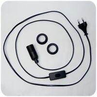E14 Lampenfassung 2 m Kabel  Fassung Stecker EB101 Netzkabel mit Schalter
