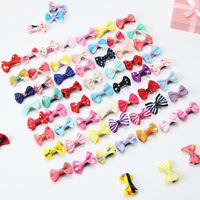 20 10 pcs Mini Bow Hairpins Hair Barrette Kids Cute Baby Girl Headwear Hair Clip