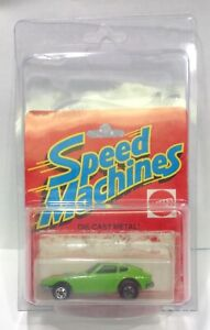 RARE FLAW1982 SPEED MACHINES Z WHIZ LIGHT GREEN HOT WHEELS DATSUN 240Z BP