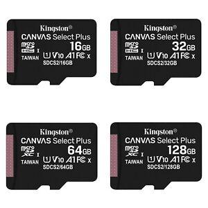 Kingston Micro SD Card 16GB 32GB 64GB 128GB Class 10 Android Samsung Canon Nikon