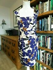 NEW. Size 6/8,  COAST Cotton With stretch, Square Neck, Sleeveless lined Dress