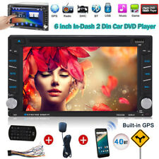 "Double 2 DIN HD 6.2"" Touch Screen Car DVD Player GPS Sat Nav Stereo Radio AUX in"
