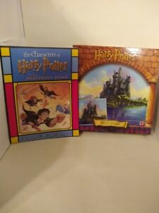 Harry Potter Jigsaw Puzzle Hogwarts Castle & Stain Glass Art Book by Scholastic