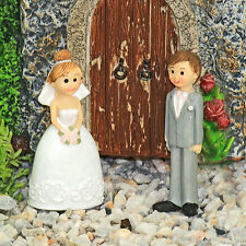 Bride & Groom Figures ~ Fairy Garden ~ Wedding  ~ Dolls House ~ Cake Topper