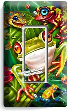 EXOTIC RAINFOREST TROPICAL TREE FROGS SINGLE GFCI LIGHT SWITCH WALL PLATE COVER