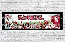 Personalized Oklahoma Sooners Name Poster with Border Mat Art Decor Banner