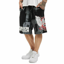 Neue Yakuza Herren Burning Skull Sweat Shorts - Schwarz