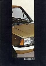 Depliant Brochure Innocenti 90 L - De Tomaso 1980 Germania ORIGINALE