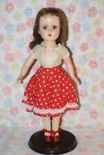 "BEAUTIFUL!! Vintage 14"" Nanette Hard Plastic Walker Doll"