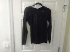 Nike pro combat, Black, fitted, pullover, size M