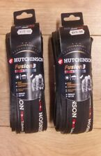 Hutchinson Fusion 3 Folding Tubeless ready Tyres Pair Black 700 x 23 road