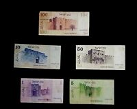 Old 'Shekel' Israeli Banknotes Lot of 5 banknots 1978-1979