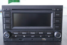 Originales de VW autoradio rcn 210 con Bluetooth, doble din para polo 9n, golf 4, b5
