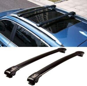 2Pcs Fit for Cadillac SRX 2010-2015 Lockable Roof Rail Rack Cross bar Crossbar
