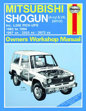 1944 Haynes Mitsubishi Shogun & L200 Pick-up Benzina (83 - 94) Manuale Officina