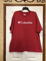 Men's Columbia 2XL Red T-Shirt