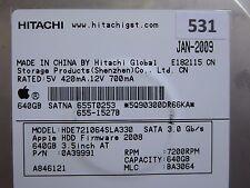 640gb Hitachi hde721064sla330 | pn: 0a39991 | MLC: ba3064 | jan-2009 #531