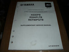 2013 Yamaha Snowmobile RS Cector RS Venture GT Supplementary Service Manual Used