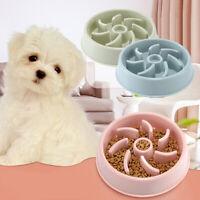 EE_ Pet Feeder Bowl Dog Cat Interactive Slow Food Feeder Bowl Gulp Feed Dish Cod
