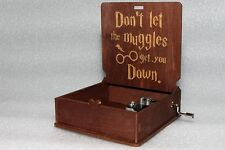 Don't Let The Muggles Get - Harry Potter Music Box - Hand Crank Engraved Wooden