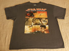Star Wars T Shirt 2XL XXL EUC Poe Finn Chewbacca The Force Awakens Official
