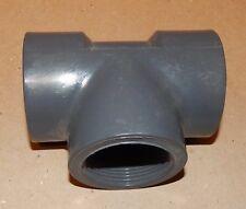 """PVC Threaded Tee 1 1/2"""" Spears Grey D2467 SCH 80 USA PVC-I NSF-pw 137W"""