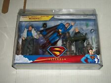 Mattel Superman Returns MENACE TO METROPLOIS 3 Figure Set with Lex Luthor NEW