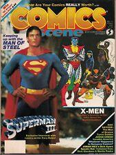 Comics Scene #11 X-Men, Superman, Wolverine, Judge Dredd 1983 Fn