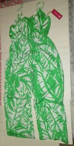 Lily Pulitzer For Target Green Palm Floral One Piece Jumpsuit Size X-Large NWT