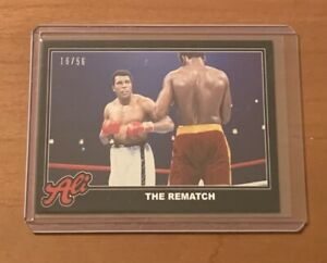 2021 TOPPS MUHAMMAD ALI #71 THE REMATCH - NUMBERED 16/56 BLACK PARALLEL