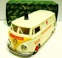 Ambulance  VOLKSWAGEN  tinplate and plastic  made in Portugal 1970's - 3